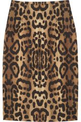 Giambattista Valli Leopard-print Cotton Pencil Skirt - Lyst