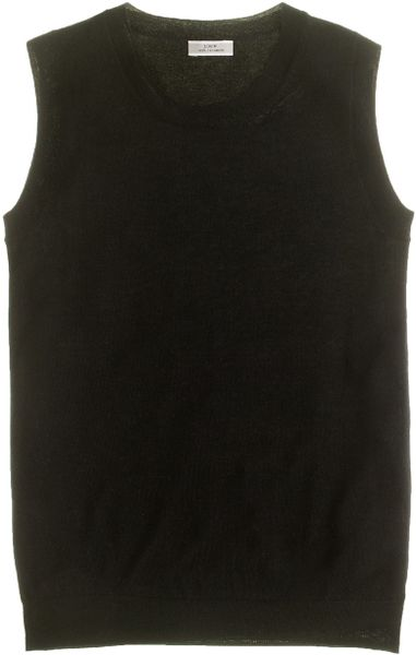 J.crew Featherweight Cashmere Shell in Black - Lyst