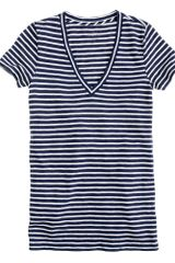 J.Crew Vintage Cotton V-neck Tee  - Lyst