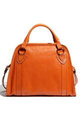 Marc Jacobs Classic Wellington Leather Satchel in Orange (pumpkin) - Lyst