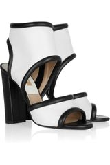 Michael Kors Leather Cuff Sandals - Lyst
