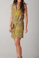 Rag & Bone Nimue Geo Print Trench Dress - Lyst