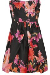 See By Chloé Printed Silk-Shantung Dress
