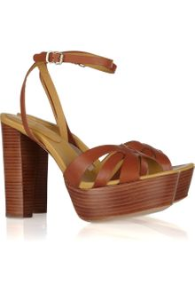 See By Chloé Wooden-heeled Leather Sandals - Lyst