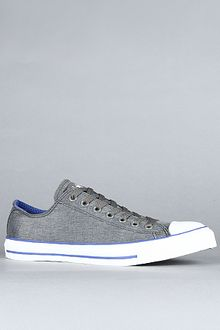 Converse The Chuck Taylor All Star Heathered Nylon Ox Sneaker in Charcoal, Dazzling Blue, & White - Lyst