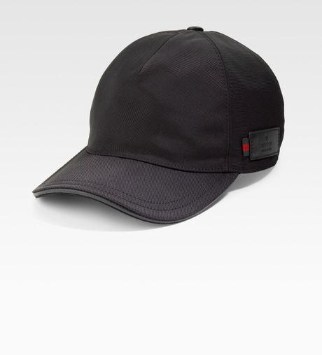 Gucci Canvas Baseball Hat In Black For Men