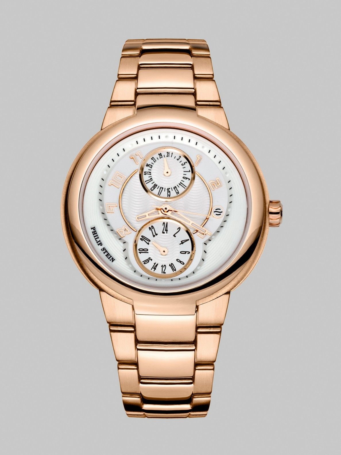 Philip stein active 23k rose goldplated watch in pink rose lyst for Philip stein watches