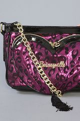 Betsey Johnson The Betseyville Tassel My Heart Cross Body in Pink in Pink - Lyst
