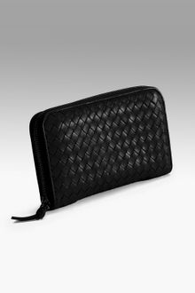 Bottega Veneta Woven Zip-around Wallet - Lyst