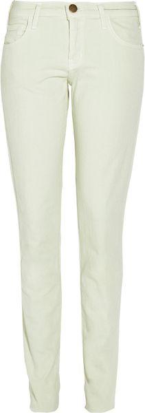 Current/elliott The Roller Pastel Mid-rise Boyfriend-fit Jeans in Green (mint)