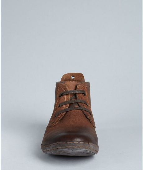 Kenneth Cole Reaction Cognac Leather Cool It Chukka Boots