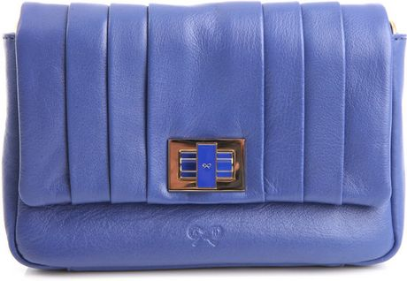 Anya Hindmarch Mini Gracie Bag in Blue - Lyst