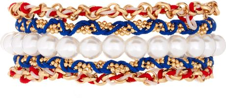 Asos Collection Asos Nautical Friendship Bracelet Pack in Multicolor (redmulti) - Lyst