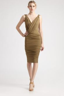 Donna Karan New York Twist Draped Dress - Lyst