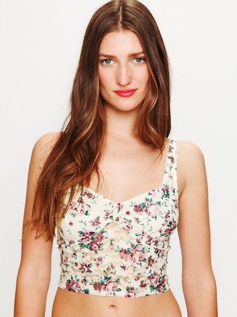 Free People Garden Lace Crop Bra - Lyst