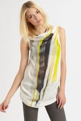 Helmut Lang Tilt Print Top in Multicolor (yellow) - Lyst
