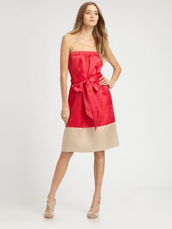Marc By Marc Jacobs Suzi Satin Colorblock Bow Dress - Lyst