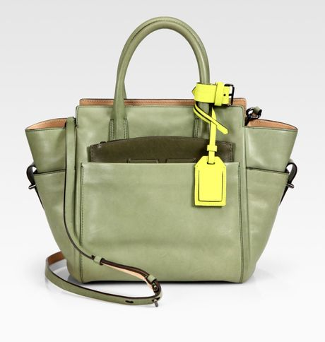 Reed Krakoff Mini Atlantique Tote Bag in Green (sage) - Lyst