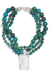 Simon Sebbag Chrysocolla Triple Strand Necklace - Lyst