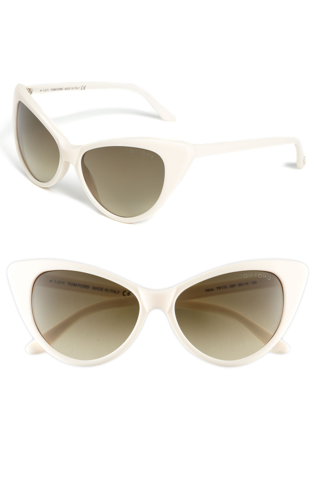 tom ford plastic cats eye sunglasses in white shiny ivory gradient. Cars Review. Best American Auto & Cars Review