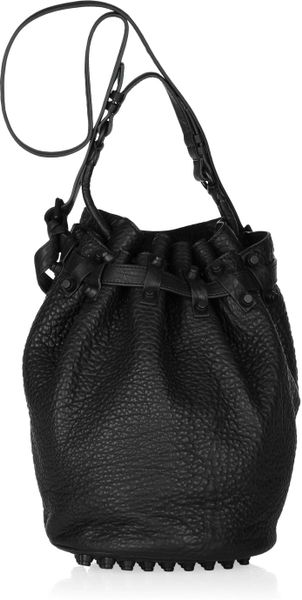 Alexander Wang Diego Texturedleather Bucket Bag in Black - Lyst