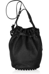 Alexander Wang Diego Textured-leather Bucket Bag - Lyst