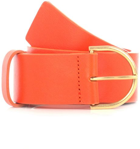 Balenciaga Leather Belt in Orange - Lyst