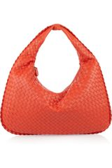 Bottega Veneta Veneta Small Intrecciato Leather Shoulder Bag - Lyst