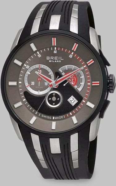 Breil Stainless Steel Chronograph Strap Watch in Black - Lyst