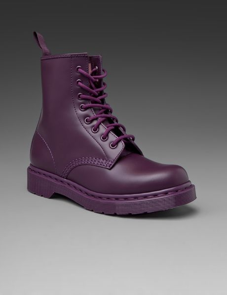 Dr. Martens 8tie Boot in Purple - Lyst