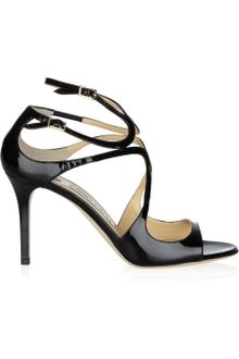 Jimmy Choo Ivette Patent-leather Sandals - Lyst