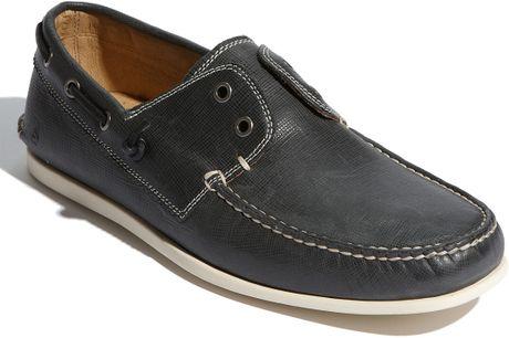 John Varvatos Schooner Boat Shoe in Blue for Men (navy