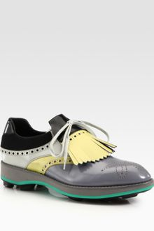 Prada Multicolored Saddle Shoe - Lyst
