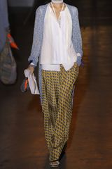 Rag & Bone Racine Printed Silk Wideleg Pants in Yellow - Lyst
