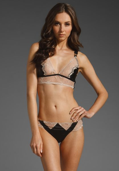 Stella Mccartney Selma Dancing Soft Cup Bra in Black (black.