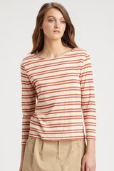 A.p.c. Striped Top in Pink (rouge) - Lyst