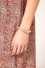 Asos Collection Asos Spike Stretch Bracelet in Gold - Lyst
