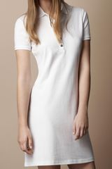 Burberry Cotton Pique Polo Dress - Lyst