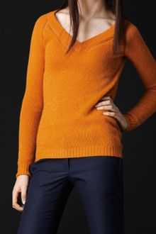 Burberry Prorsum Crochet Detail Cashmere Sweater - Lyst