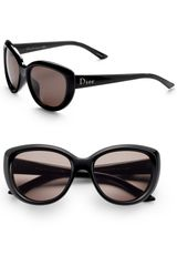 Dior Lady Cat Sunglasses in Black - Lyst