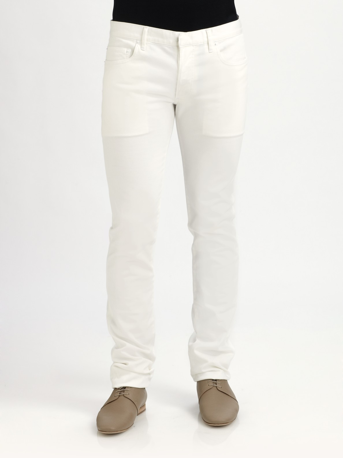 Lyst Dior Homme Slim Fit White Jeans In White For Men