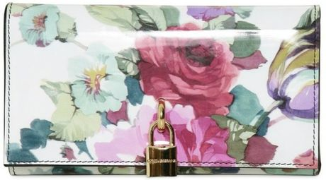 Dolce & Gabbana Patent Wallet in Multicolor (multi) - Lyst