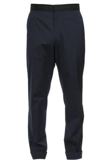 Dries Van Noten Tailored Cotton Poplin Trousers - Lyst