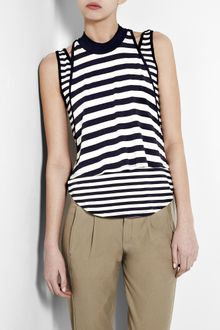 Elizabeth And James Nima Double Layer Breton Tank - Lyst