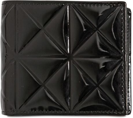 Gareth Pugh Patent Leather Wallet in Black for Men - Lyst