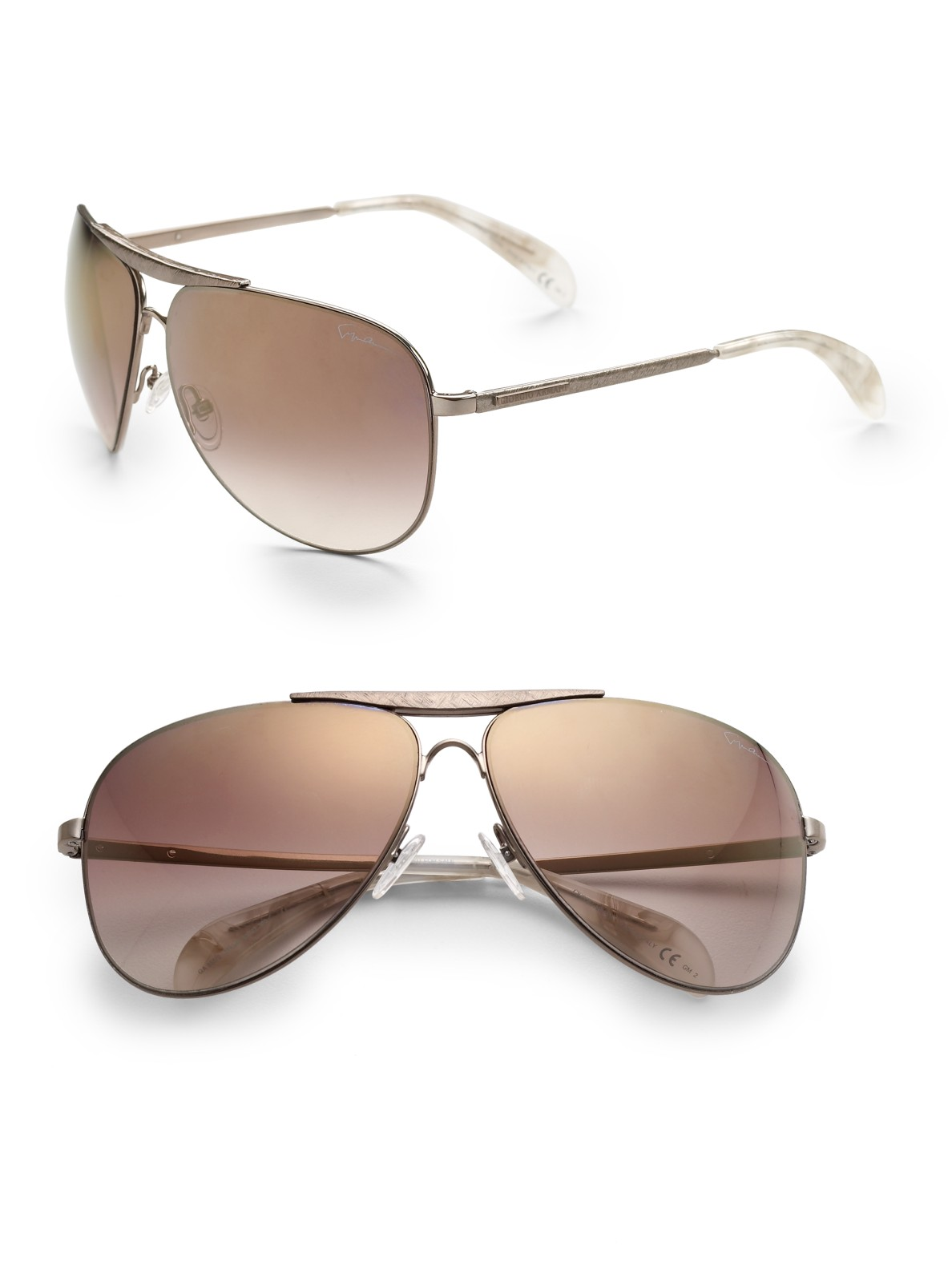 ac72d0db7e4b Armani Metal Aviator Sunglasses