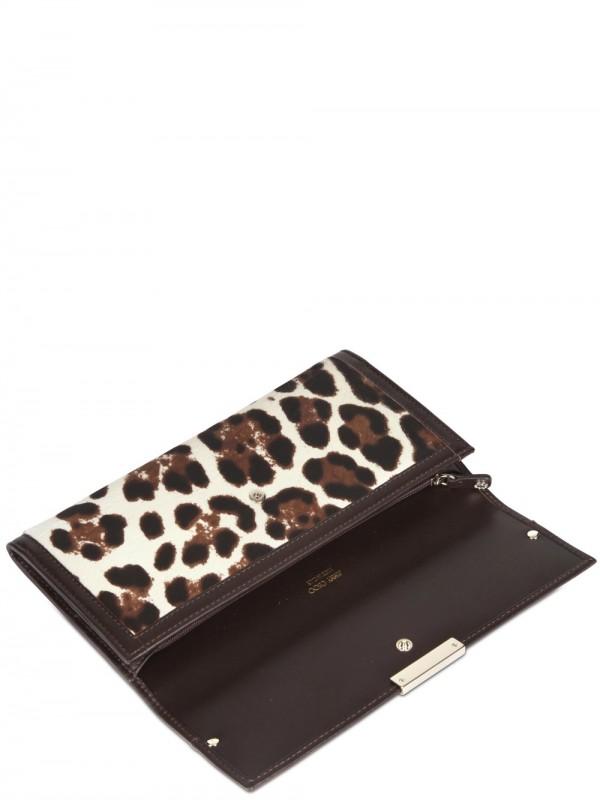 33c3b8ec62 Jimmy Choo Leopard Print Pony Wallet in Black - Lyst