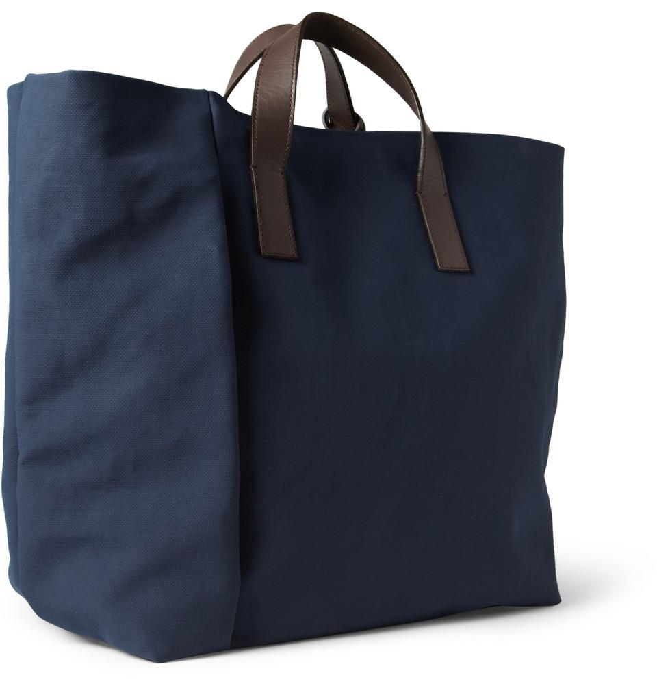 c16af4c0d2 Lyst - Marni Coated Canvas Tote Bag in Blue for Men