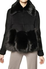 Maurizio Pecoraro Rabbit & Fox Fur Wool Cashmere Jacket - Lyst