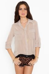Nasty Gal Chloe Pocket Blouse - Lyst